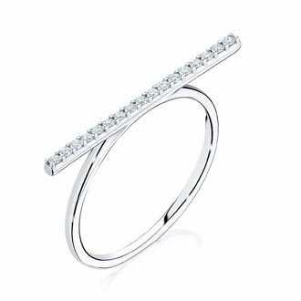 Bar Engagement ring